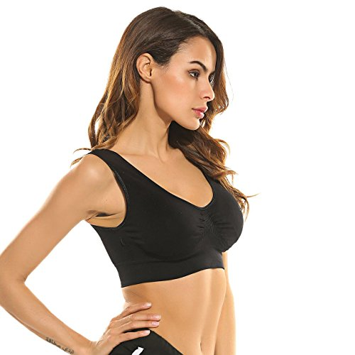 Ekouaer Women's Comfort Seamless Shaping Wirefree Bra With Foam Cups