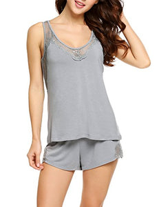 Ekouaer Women's Sexy Pajama Set Cotton Two Pieces Sleepwear
