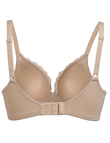 Ekouaer Women's Underwire Bra Underwire Push Up Bra  Nude 1 38C