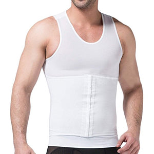 Ekouaer Mens Abdomen Compression Slimming Body Shaper Belly Vest Tank