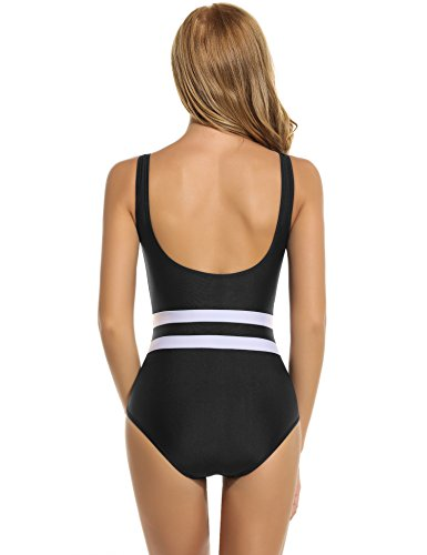 Ekouaer Womens One Piece Bathing Suit Monokini Swimsuit