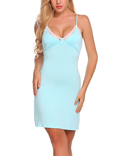 Ekouaer Noble Lace Nightgown Sexy Bandage Dress For Women