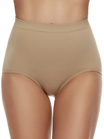 Ekouaer Seamless Panty Women's Comfort Stretch Low Rise Briefs