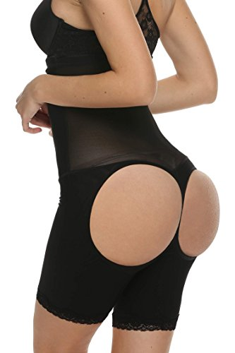 Ekouaer Women's High Waist Shapewear Tummy Control Butt Lifter Thigh Slimmer