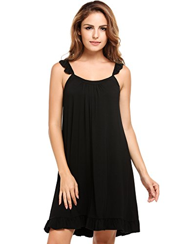 Ekouaer Womens Luxury Modal Nightgown Comfort Chemise Full Slip Under Dress