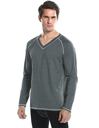 Ekouaer Men's Rashguard Long Sleeve UV Protection Loose-Fit Surf Swim Shirt