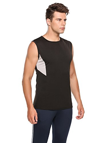 Ekouaer Mens Casual O-Neck Vest Sleeveless Patchwork Tank Tops