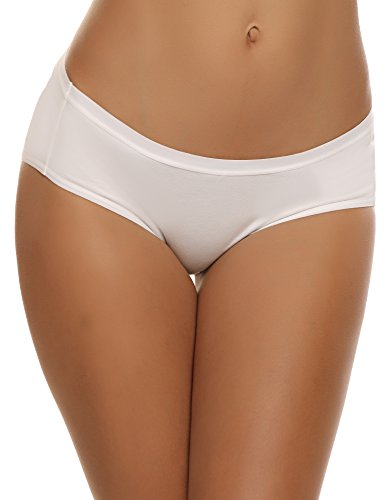 Ekouaer Women's Classics Soft Stretch Hipster Panties Pack Of 3
