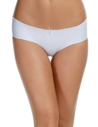 Ekouaer Women Medium Waist Seamless Briefs Solid Soft Daily Underwear Pack of 3/6