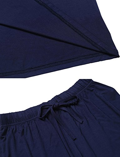Ekouaer Sexy Satin Shorts Pajama Set Sleevelss Silk Sleepwear