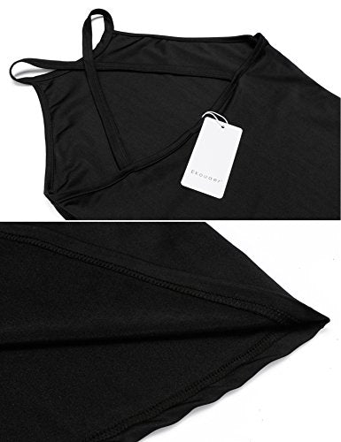 Ekouaer Women's Yoga Shirts Cross back Workout Fitness Tank Top