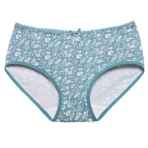 Ekouaer Women Cotton Underwear 5 Pack Casual Hipster Panty