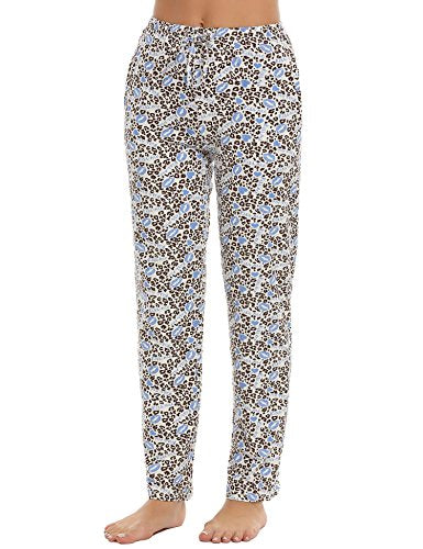 Ekouaer Women's Lounge Bottoms Cotton Thermal Pants for Winter