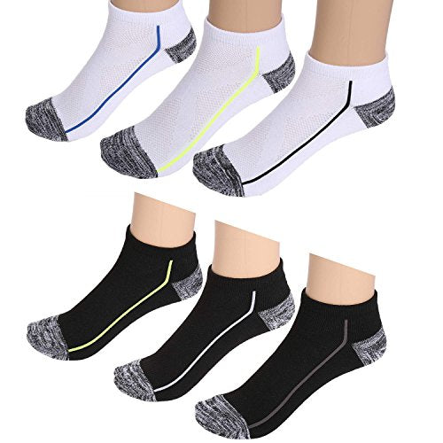 Ekouaer Men's Ankle Socks No Show Socks 6 Pack