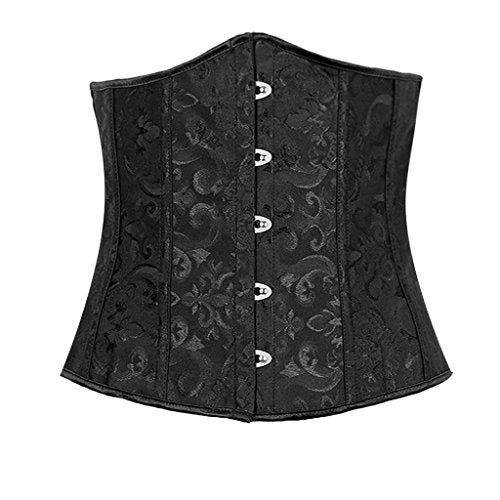 Ekouaer Women's Underbust Waist Training Corset Shapewear With G-String