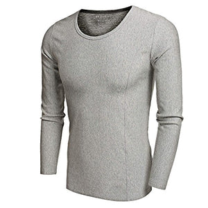 Ekouaer Mens Mid Weight Wicking Crew Neck Top