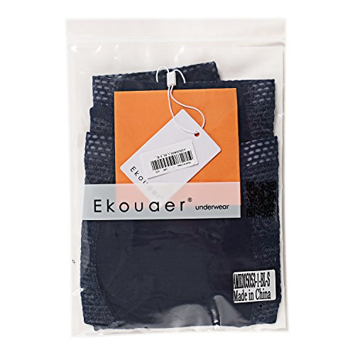 Ekouaer Men's Print Soft Boxer Briefs Medium Waist Daily Underwear 2-4 Pack