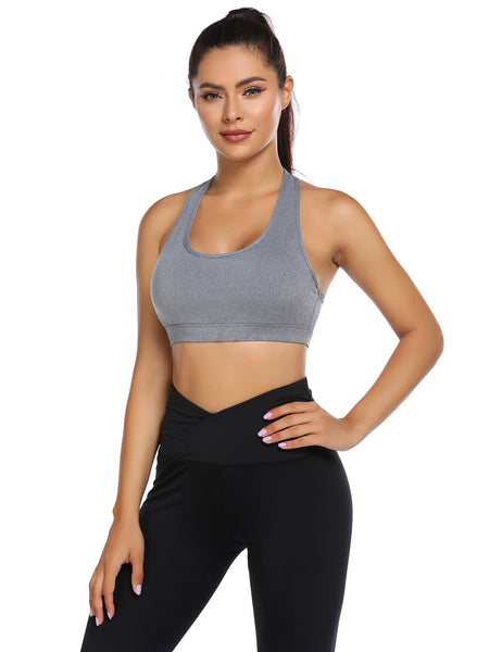 Ekouaer Women's Medium Support Wirefree Yoga Bra with Removable Cups