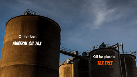 Tax free crude oil for plastic production in Germany