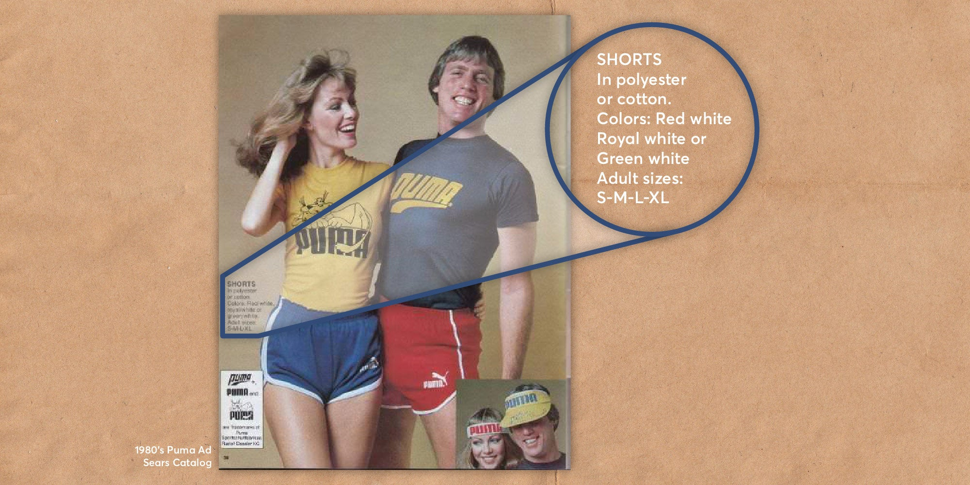 1980s puma running outfit advertisement from sears catalog