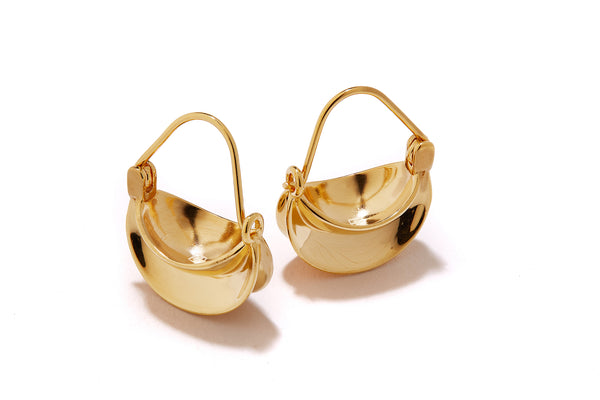 Mini Paniers Earrings - Gold