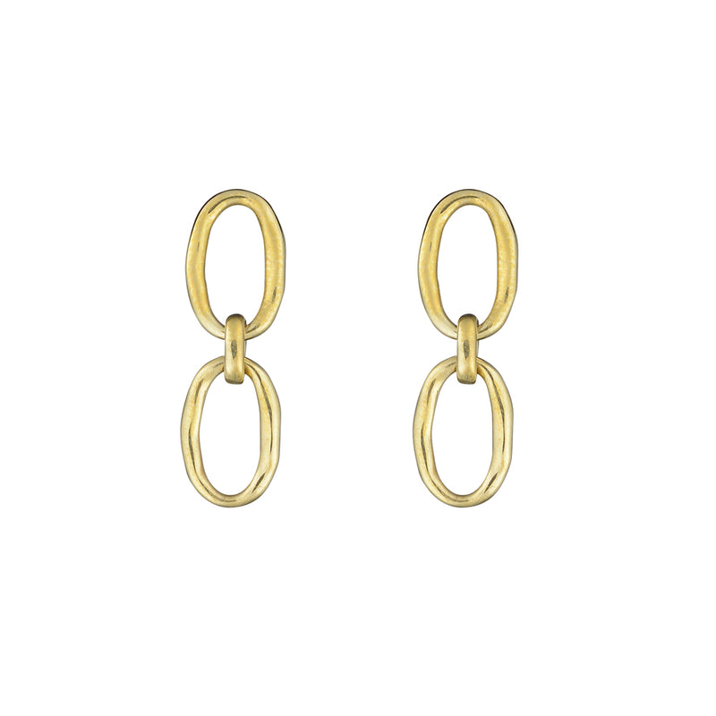 Link Chain Stud Earrings