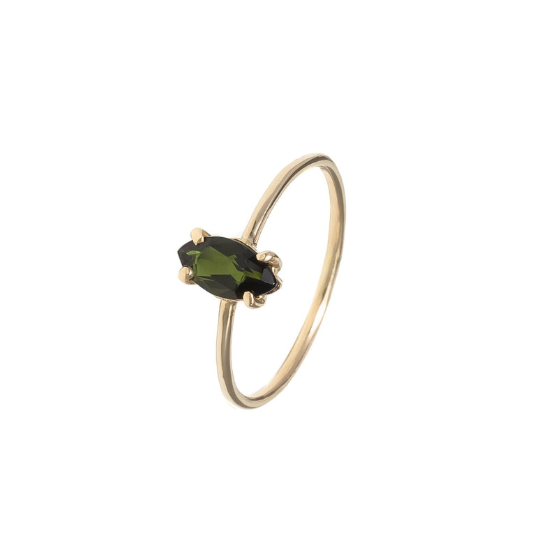 Baby D Navette Ring - Tourmaline
