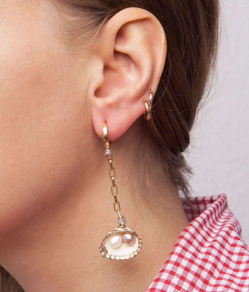 Drop It Like It's Hot Shell Earrings