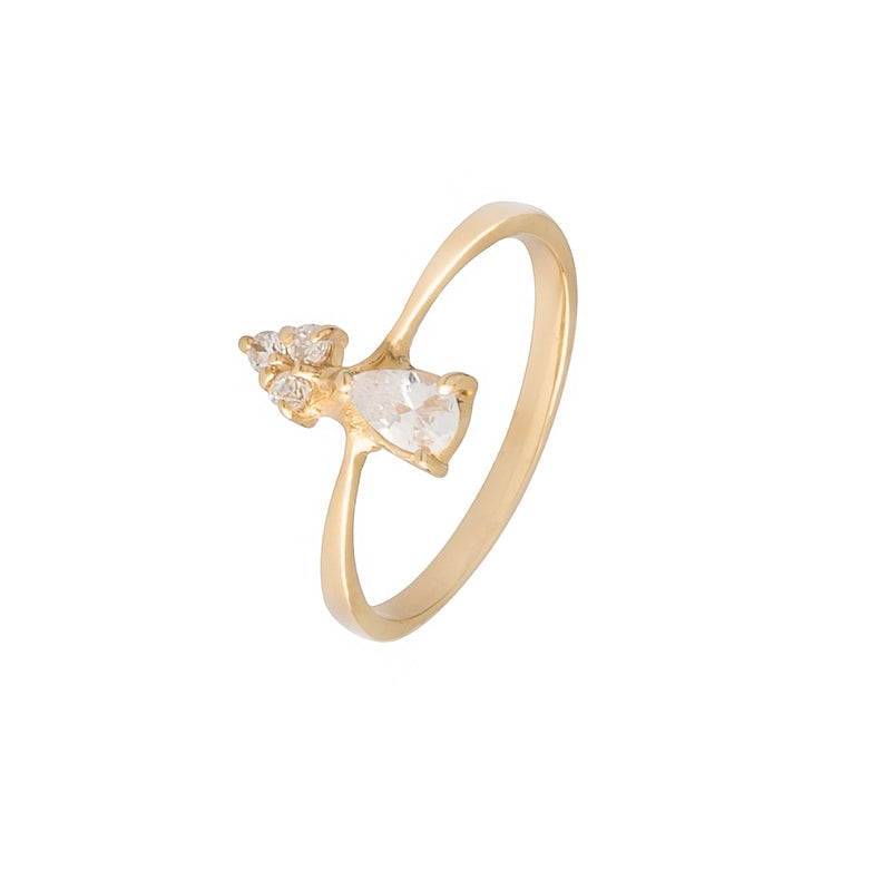 On Top White Ring - Zircon