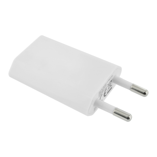 Chargeur mural USB pour smartphone blanc