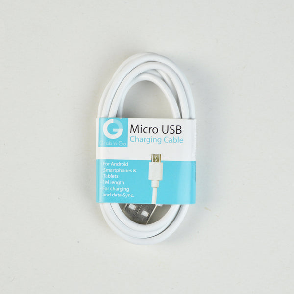 Câble data Micro - USB - 1m - Blanc