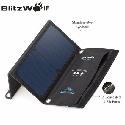 15W Solar Power Bank Portable USB Charger For iPhone For Samsung