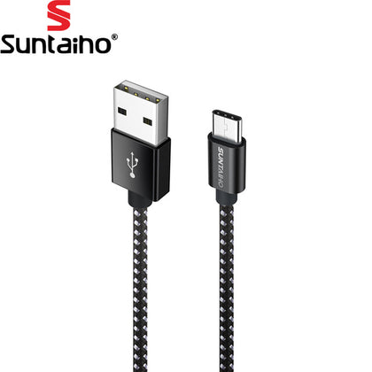 Suntaiho Type C Cable 3.1 for Samsung S9 Huawei P20 P10 Nylon USB Type C Cable for Samsung S9 plus Nokia 8 Fast Charging Cable