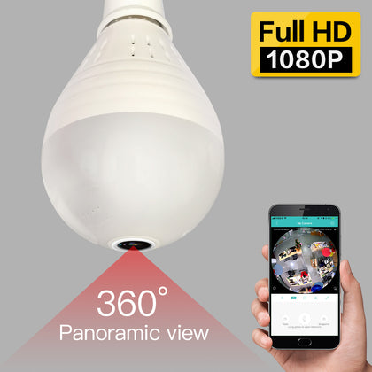 Wireless IP Camera-Wifi Bulb Light - 360 degree Security Camera
