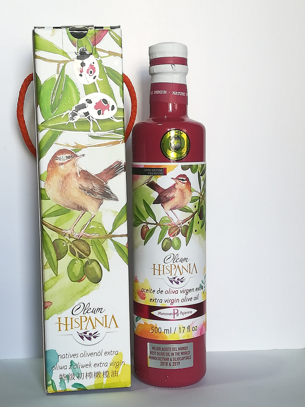 Estuche Botella Nature Premium Pajarera 500ml  #  Nature Premium Aviary Case bottle 500ml