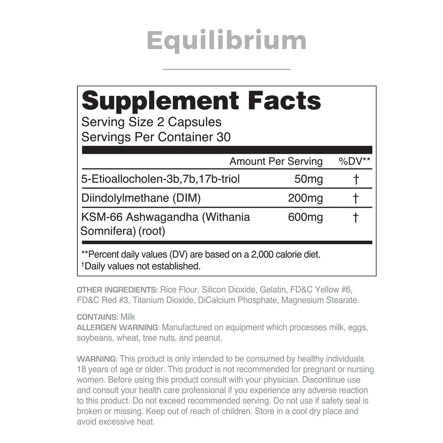 Equilibrium Supplement Facts Panel