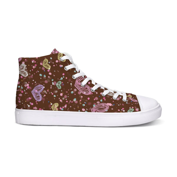 Flower Garden 3 Hightop Canvas Shoe