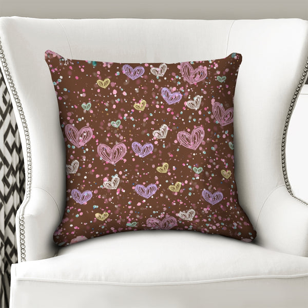 "Flower Garden 3 Throw Pillow Case 18""x18"""