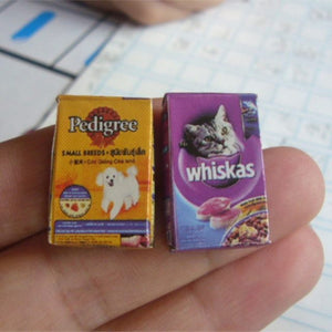 Miniature Whiskas and Pedigree Food