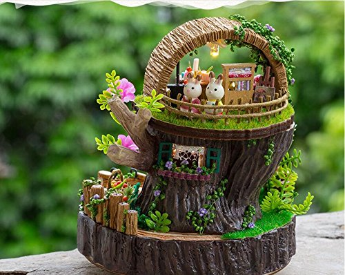 Dollhouse Miniature Fantasy Forest DIY Kit