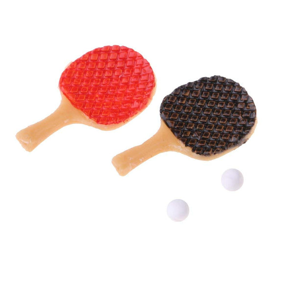 Table Tennis Bats with Ball (1/12 scale)