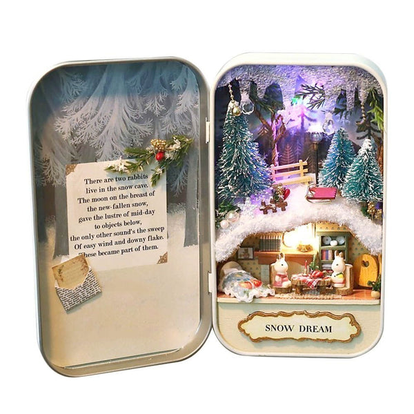 Dollhouse Miniature DIY Kit - Snow Dream
