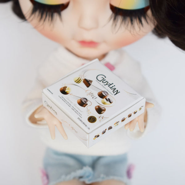 Dollhouse Miniature Guylian Chocolate Box (1:6 scale)