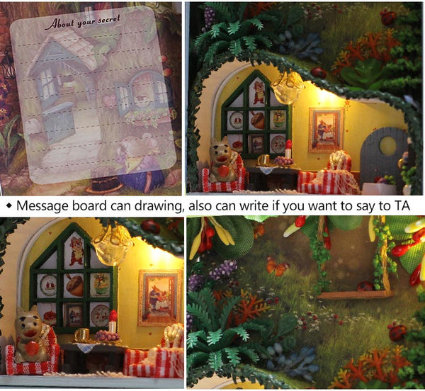 Box Secret Dollhouse Miniature Kit Diy