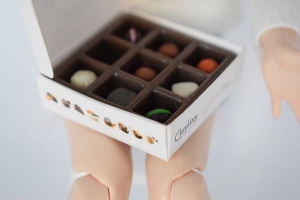 Dollhouse Miniature Mini Guylian Chocolate Box (1:6 scale)