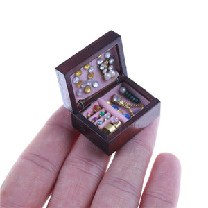 1:12 Dollhouse Miniature Jewelry Box