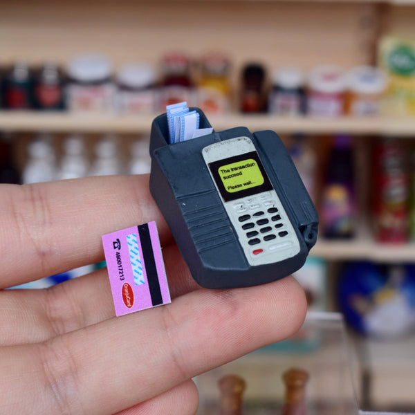 Miniature Pin Pad POS Device and Mini Credit Card