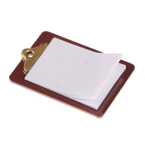 1:12 scale dollhouse miniature clipboard