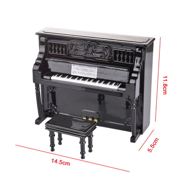 Miniature Piano and Small Stool