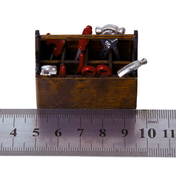 Miniature Toolbox Set with Wooden Box